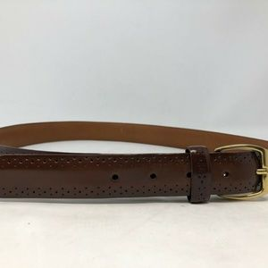 Cole Haan belt hand antiqued brush off leather 36